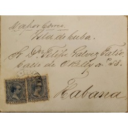 A) 1915, SPAIN, VAPOR, FROM MADRID TO CARIBBEAN, POST OFFICE, KING ALFONSO XII STAMP