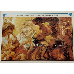 M) 1991 BUTHAN, RUBENS, ANNIVERSARY OF THE DEATH OF PETER PAUL RUBENS, 1577 – 1640, THE FALL OF THE TITANS, MNH