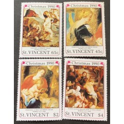 M) 1990, ST VICENT, RUBENS 1577 – 1640, CHRISTMAS, ALLEGORY OF ETERNITY, CROWNING OF HOLY KATHERINE,