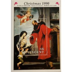 M) 1990, ST VICENT, RUBENS 1577 – 1640, CHRISTMAS, ST. IVES OF TREGUIER, PATRON OF LAWYERS, MNH