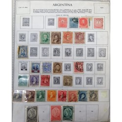 A) 1858-1926, ARGENTINA, COAT OF ARMS AND FLAG, SHEET WITH MULTIPLE STAMPS