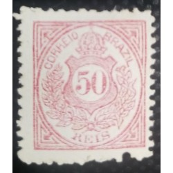 A) 1887, BRAZIL, COAT OF ARMS, PROOFS, RED