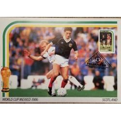 J) 1986 ST VINCENT, MEXICO, WORLD CUP, POSTCARD