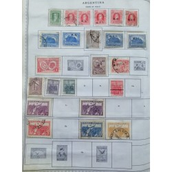 A) 1926-31, ARGENTINA, COLLECTION, LOT OF 28 STAMPS, THE ALBUM PAGE IS NOT INCLUDED INLY THE STAMPS, RIVADAVIA