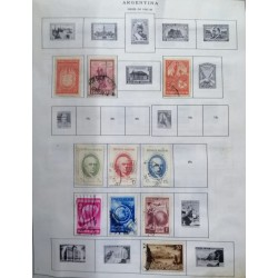 A) 1931-39 ARGENTINA, LOT OF 23, THE ALBUM PAGE IS NOT INCLUDED INLY THE STAMPS, FOUNDATION OF LA PLATA