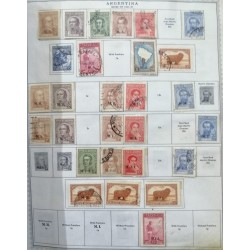 A) 1935-37, ARGENTINA, COLLECTION, THE ALBUM PAGE IS NOT INCLUDED INLY THE STAMPS, LOT OF 31, FAUSTINO SARMIENTO