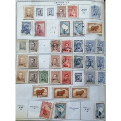 A) 1935-37, ARGENTINA, COLLECTION, THE ALBUM PAGE IS NOT INCLUDED INLY THE STAMPS, LOT OF 39