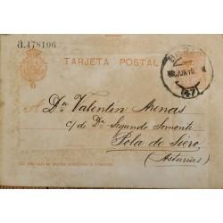 A) 1915, SPAIN, POSTAL STATIONARY, FROM BILBAO TO AUSTRIA, KING ALFONSO XIII