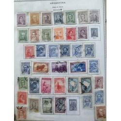 A) 1935-42, ARGENTINA, MANUEL BELGRANO, DOMINGO FAUSTINO, JOSE URQUIZA