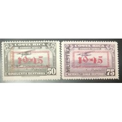 A) 1945, COSTA RICA, SPECIMEN IN BLACK, WITH OVERPRINT DATED 1945, BLACK GRAY AND VIOLET, AMERICAN BANK NOTE