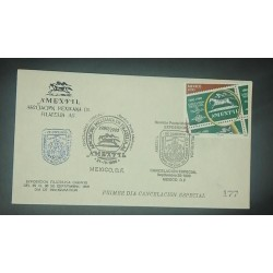 A) 1990, MEXICO, MEXICAN PHILATELY ASSOCIATION, FDC, POSTMARK OF SPECIAL CANCELLATION