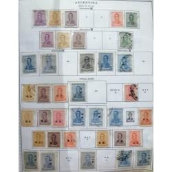 A) 1917-22, ARGENTINA, LOT OF 38 STAMPS, GRAL JOSE DE SAN FRANCISCO DE SAN MARTIN
