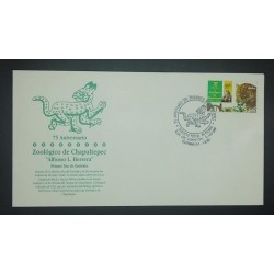 A) 1998, MEXICO, CHAPULTEPEC ZOOLOGICAL ANNIVERSARY, FDC,