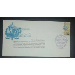 A) 1998, MEXICO, 75 ANNIVERSARY OF INTERPOL, FDC, CRIMINAL POLICE