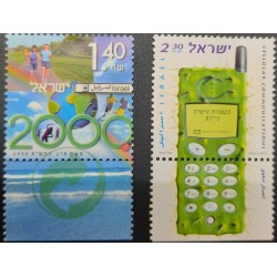 A) 2000, ISRAEL, QUALITY OF LIFE, MNH, COMMUNICATIONS DAY, MULTICOLORED