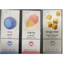 A) 2002, ISRAEL, CHILDISH GAMES, MNH, SPIN, YOYO AND DICE