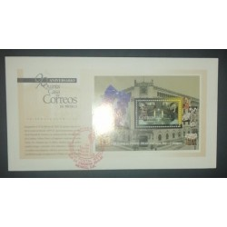A) 1997, MEXICO, 90 YEARS OF THE CENTRAL POST OFFICE OF MEXICO CITY, FDC, XF