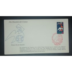 A) 1997, MEXICO, WORLD POST DAY, FDC, XF