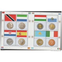 A) 2007 UNITED NATIONS-VIENNA, COINS AND FLAGS, MNH
