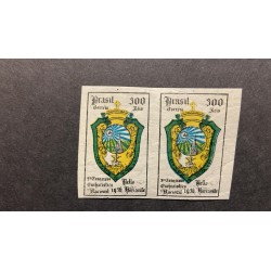 L) 1936 BRAZIL, PROOFS, NATIONAL EUCHARISTIC CONGRESS, COAT OF ARMS, 300 REIS