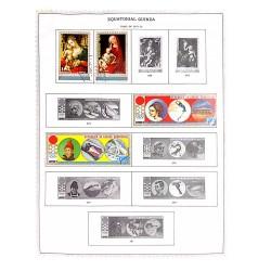 M) 1971 - 1972, EQUATORIAL GUINEA, CHRISTMAS, WINTER OLYMPICS, JAPAN,