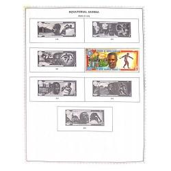 M) 1972, EQUATORIAL GUINEA, OLYMPIC GAMES. MUNICH, GERMANY, LEGENDARY CHAMPIONS, JESSE OWENS USA, JOHN DAVIS USA,