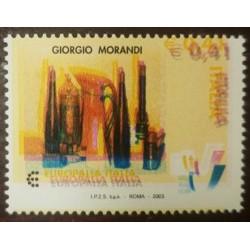 RO) 2003 ITALY, ERROR, STILL LIFE BY GIORGIO MORANDI - EUROPALIA ITALIA FESTIVAL - SC 2568, MNH