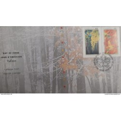 RU) 2003, CANADA, TREES POSTAGES, NATIONAL EMBLEMS OF CANADA, FDC