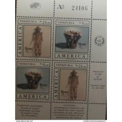 A) 1989, VENEZUELA, PREHISPANIC CERAMICS, AMERICA, UPAE, SHEET