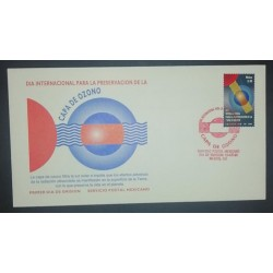 A) 1996, MEXICO, FDC, INTERNATIONAL DAY FOR THE PROTECTION OF THE OZONE LAYER, XF