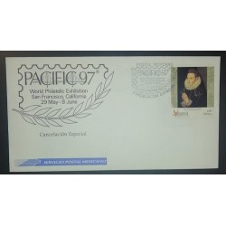 A) 1996, MEXICO, TABLE OF THE VIRREINAL PINACOTECA, SPECIAL CANCELLATION, PACIFIC 97, WORLD