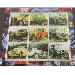 J) 2000 KYRGYZSTAN, CLASSIC CARS, SOUVENIR SHEET, XF