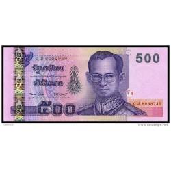 RO) 2011 THAILAND, BANKNOTE 500 BAHT, BHUMIBOL ADULYADEJ-KING-RAMA IX,UNCIRCULATED