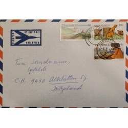 J) 1976 TRANSKEI, LANDSCAPE, MULTIPLE STAMPS, AIRMAIL, CIRCULATED COVER, FROM TRANSKEI TO SWITZERLAND