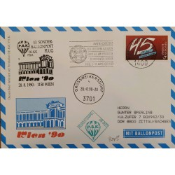 J) 1990 DENMARK, MULTIPLE STAMPS, AIRMAIL, CIRCULATED COVER, FROM DENMARK