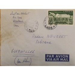 J) 1956 LAOS, AIRMAIL, CIRCULATED COVER, FROM LAOS TO GUEBWILLER