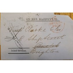 J) 1870 GREAT BRITAIN, REVENUE PAPER, INLAND REVENUE, FRONT OF LETTER