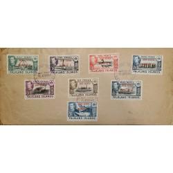 J) 1945 FALKLAND ISLANDS, BOAT, MULTIPLE STAMPS, XF