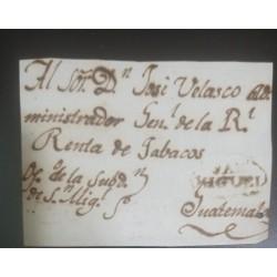 A) 1800 CIRCA, EL SALVADOR, FRONT LETTER SAN MIGUEL COLONIAL TO GUATEMALA