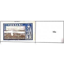 A) 1910, UBANGI-SHARI-AFRIQUE EQUATORIALE FRANCAISE, CHIFFRE TAXE, POSTAGE DUE, XF