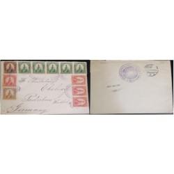 A) 1900, EL SALVADOR, FROM CHALATENANGO TO GERMANY, U.P.U, XF
