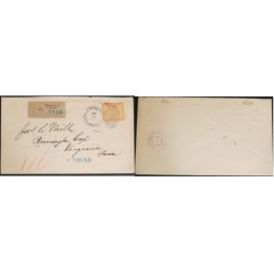 A) 1903 PANAMA, COVER SHIPPED TO VIRGINA-UNITED STATES, REGISTERED 90989, 10C YELLOW STAMP