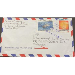 M) 1993, COSTA RICA, DOLPHIN PROTECTION, INTERNATIONAL YEAR OF THE FAMILY, AIRMAIL