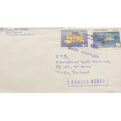 M) 1993, COSTA RICA, L ANNIVERSARY OF THE NATIONAL CHAMBER OF COMMERCE AND INDUSTRY, DOLPHIN PROTECTION, AIRMAIL