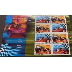 J) 1982 CANADA, GILLES VILLENEUVE 1950-1982 FORMULA ONE DRIVER, SOUVENIR SHEET, XF