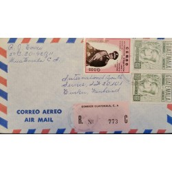 A) 1973, GUATEMALA, COVER SHIPPED TO FINLAND, AIRMAIL, REGISTERED 773, NATIONAL CENSUS OF POPULATION