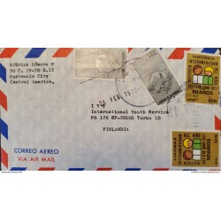 A) 1979, GUATEMALA, COVER SHIPPED FINLAND, AIRMAIL, ANNIVERSARY OF THE INTER-AMERICAN CHILDREN'S