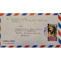 A) 1977, GUATEMALA, COVER SHIPPED TO FINLAND, AIRMAIL, PRO RECOVERY OF THE CULTURAL HERITAGE OF THE NATION-EASTER WEEK STAMP