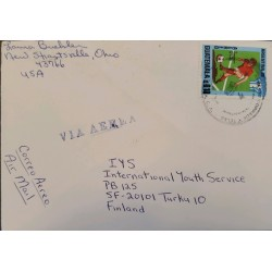 A) 1978, GUATEMALA, LETTER SENT TO FINLAND PASSING THROUGH THE UNITED STATES, SOCCER WORLD CUP ARGENTINA 78, AIRMAIL