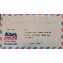 A) 1981, GUATEMALA, METER STAMP, SHIPPED TO FINLAND, AIRMAIL